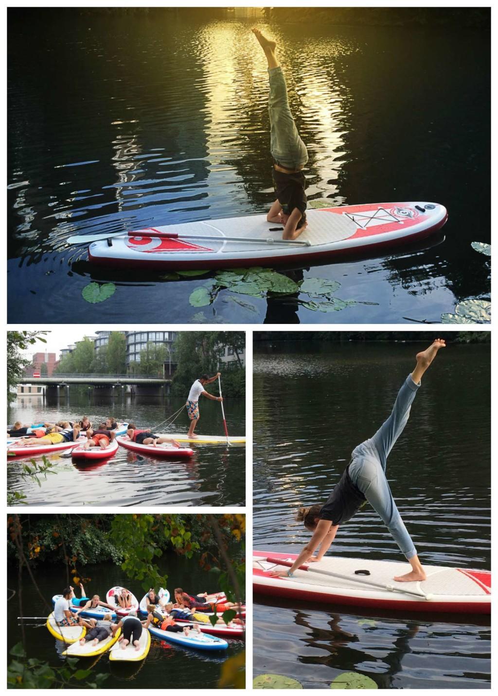 Beim Pausenkicker SUP Yoga werden zwei Sportarten miteinander kombiniert. Bei der 90 minütigen Yoga Session zum Feierabend steht ihr auf einem aufblasbaren Stand Up Paddling Board. Das trainiert die Balance vor einer unvergesslichen Kulisse!