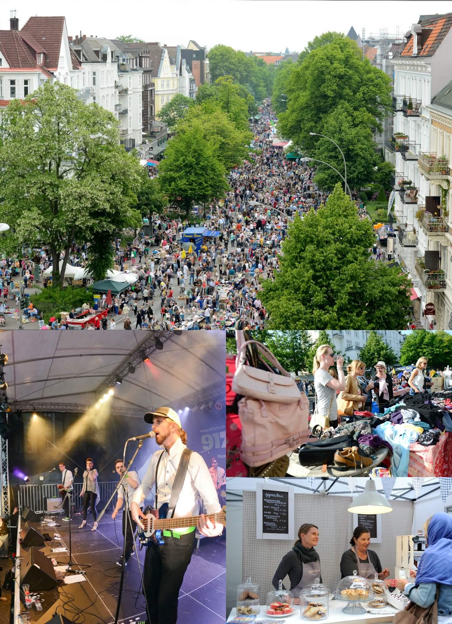 Das Eppendorfer Landstraßenfest hat einiges zu bieten! 2 Bühnen, einen riesigen Flohmarkt, viele Leckereien & das tolle Ambiente!