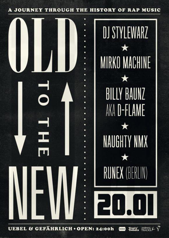 Old To The New – A Journey Through The History Of Rap Music! Erlesene DJs repräsentieren die jeweiligen Epochen!