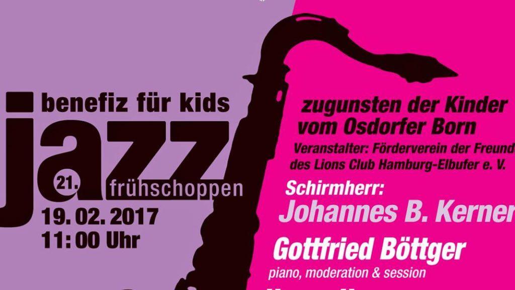 """Gute Musik gibt's beim 21. Jazz-Frühschoppen """"Benefiz für Kids""""! Alles zugunsten der Kinder vom Osdofer Born!"""