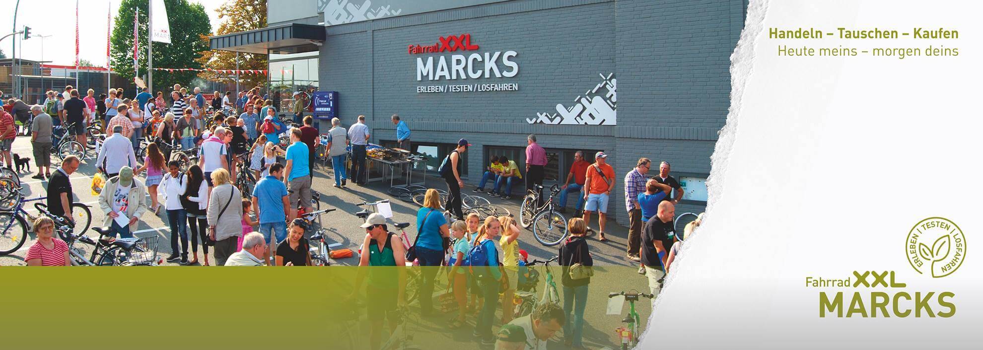 Ein Drahtesel ist ein treuer Begleiter! Bei der XXL-Fahrrad-Börse hast du einige zur Auswahl!