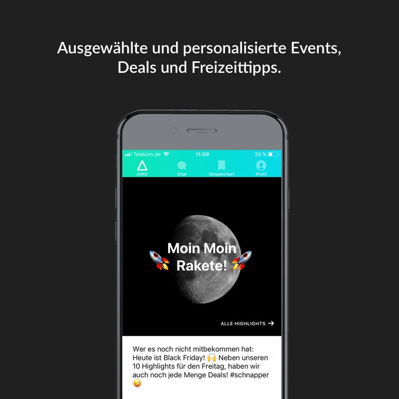 in der aino app bekommst du alle hih highlights individuelle empfehlungen f r events deals. Black Bedroom Furniture Sets. Home Design Ideas