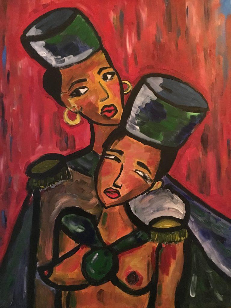 """Vernissage """"Female Warriors"""" der Künstlerin Anna Ladyshenski zeigt feministische Kunst."""
